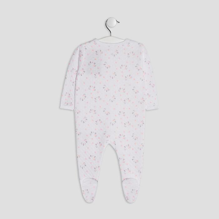 Dors-bien boutonné bébé fille blanc