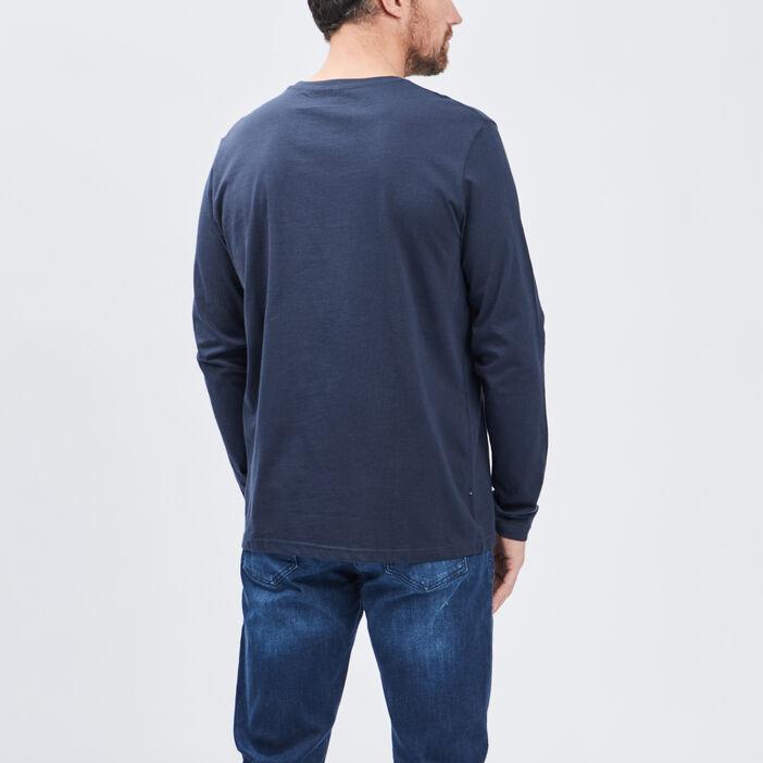 T-shirt manches longues homme bleu marine