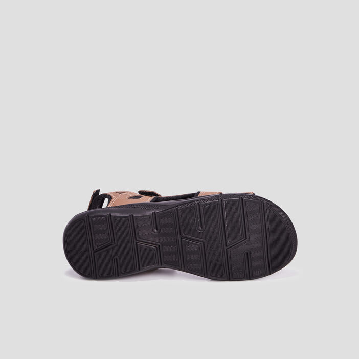 Sandales à scratchs homme marron