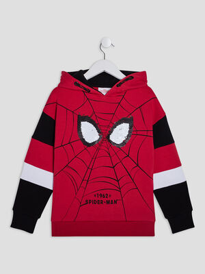 Sweat a capuche Spider Man rouge garcon