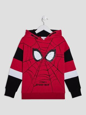Sweat a capuche Spider Man rouge garcon