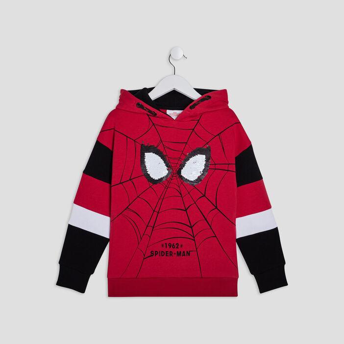 Sweat à capuche Spider-Man garçon rouge