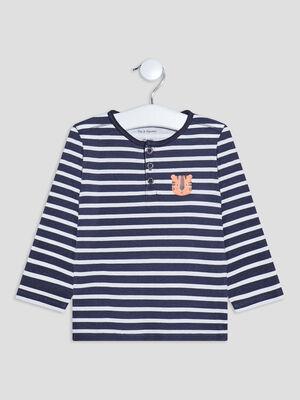 T shirt Pat et Ripaton bleu bebeg
