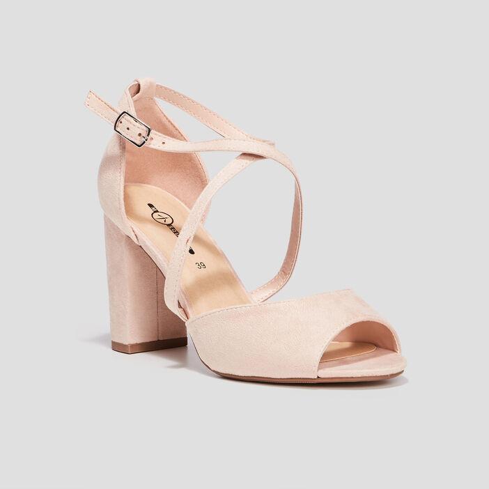 Sandales à bout ouvert femme rose