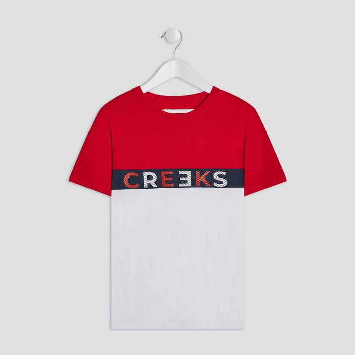 T-shirt manches courtes Creeks garçon rouge