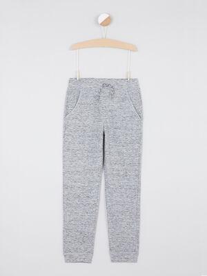 Pantalon de jogging uni gris garcon
