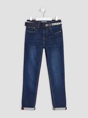 Jeans slim ceinture Creeks denim brut garcon