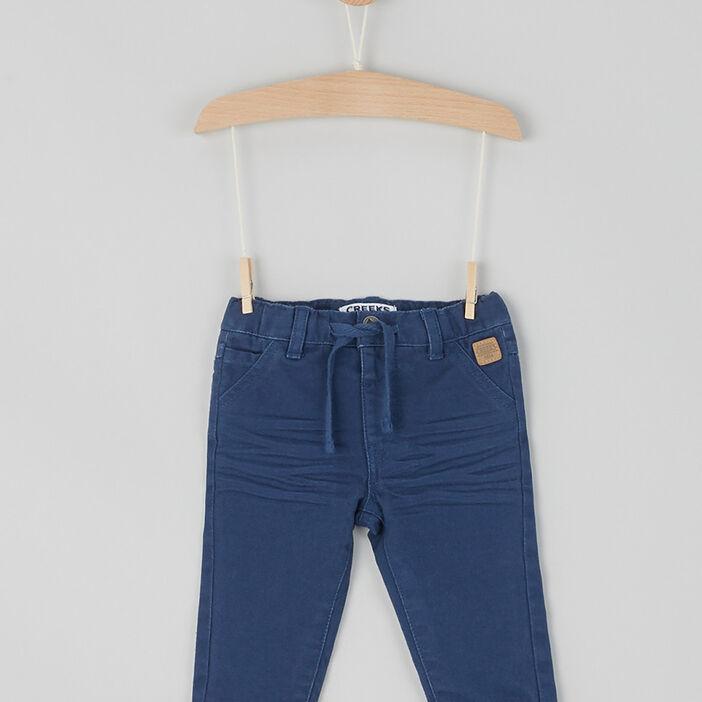 Pantalon droit en coton bébé garçon bleu marine