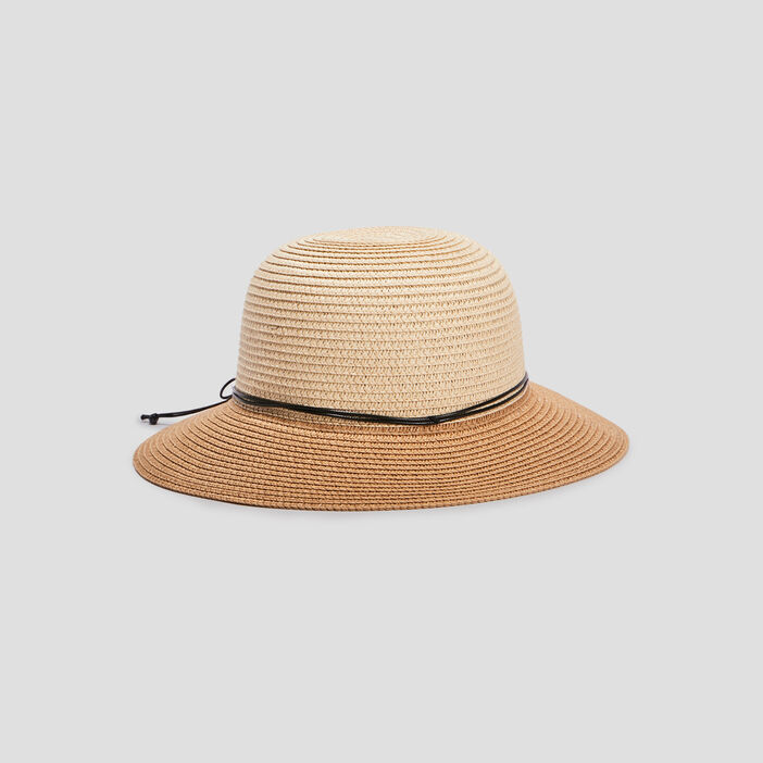 Chapeau en paille femme beige
