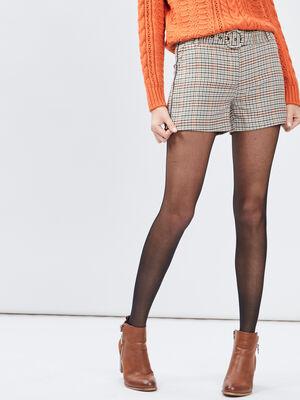 Short droit ceinture multicolore femme