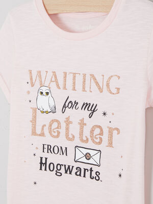 T shirt Harry Potter avec message rose clair fille