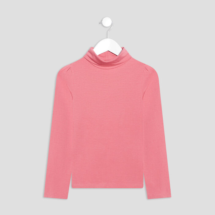 T-shirt manches longues fille rose framboise