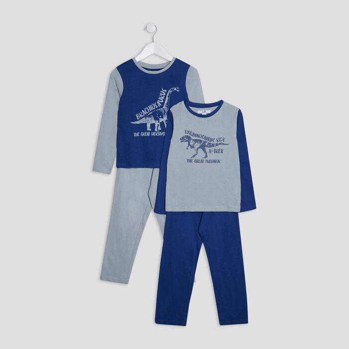 Lot 2 ensembles pyjamas garçon bleu marine