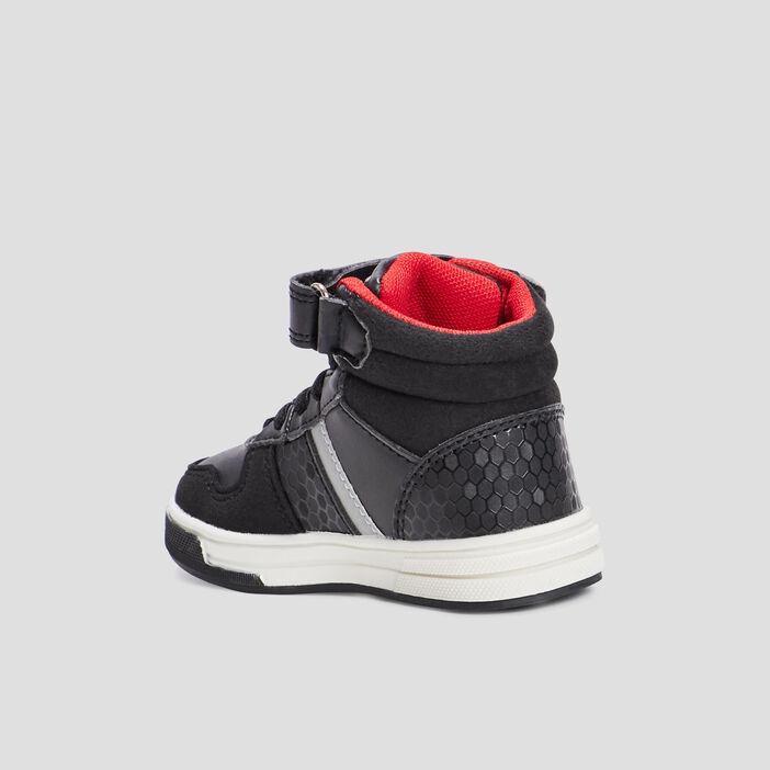 Baskets montantes bébé noir