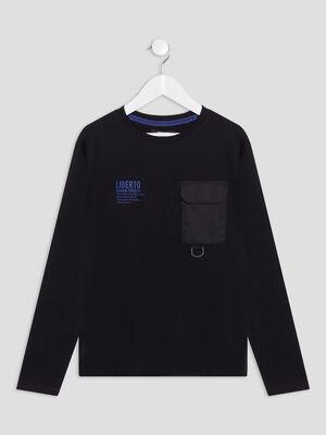 T shirt Liberto noir garcon