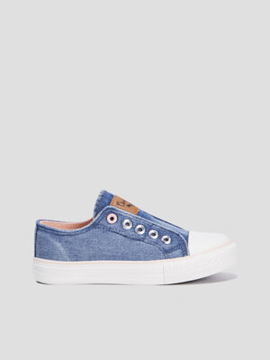 Baskets tennis bleu fille