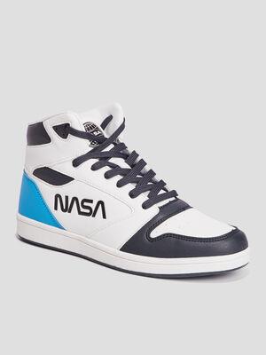 Baskets montantes NASA blanc garcon