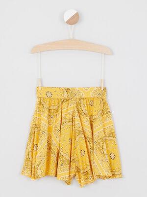 Short Bermuda jaune fille
