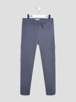 Pantalon battle gris fonce garcon