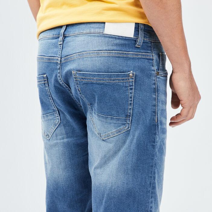 Bermuda droit en jean homme denim stone