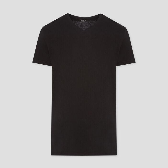 T-shirt manches courtes homme noir