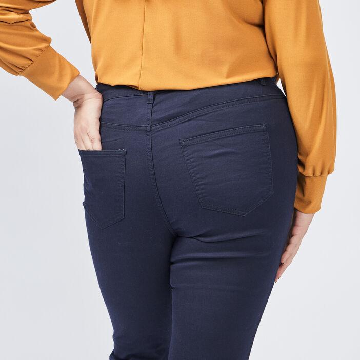 Pantalon slim grande taille femme grande taille bleu marine