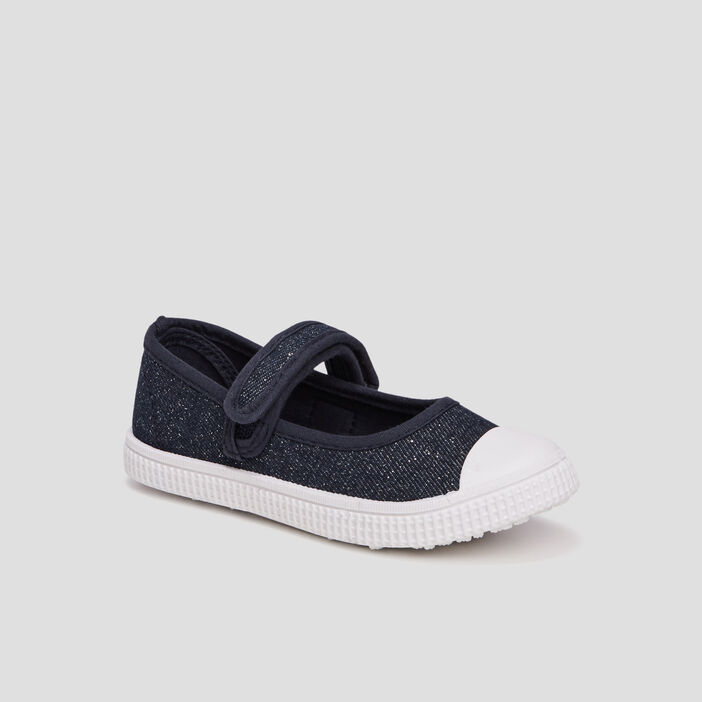 Tennis babies en jean fille bleu