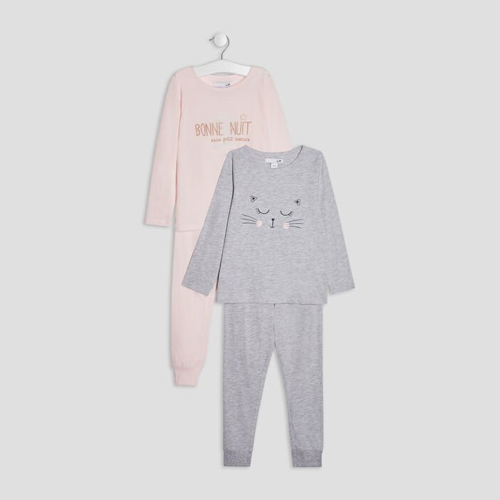 Lot 2 ensembles pyjamas fille rose