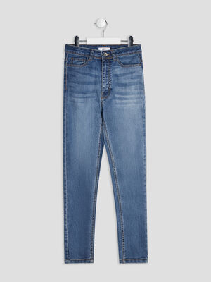 Jeans skinny cropped denim double stone fille