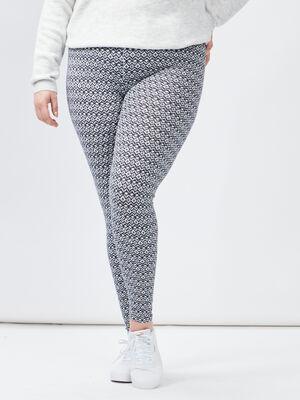 Pantalon legging grande taille bleu marine femmegt