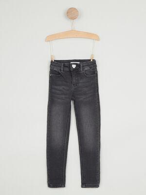 Jean skinny coton majoritaire noir fille