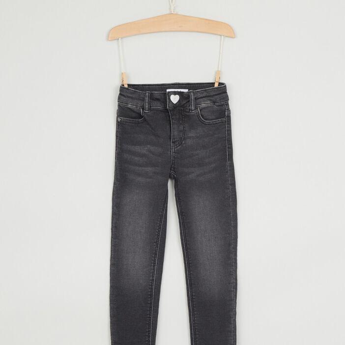 Jean skinny coton majoritaire fille noir