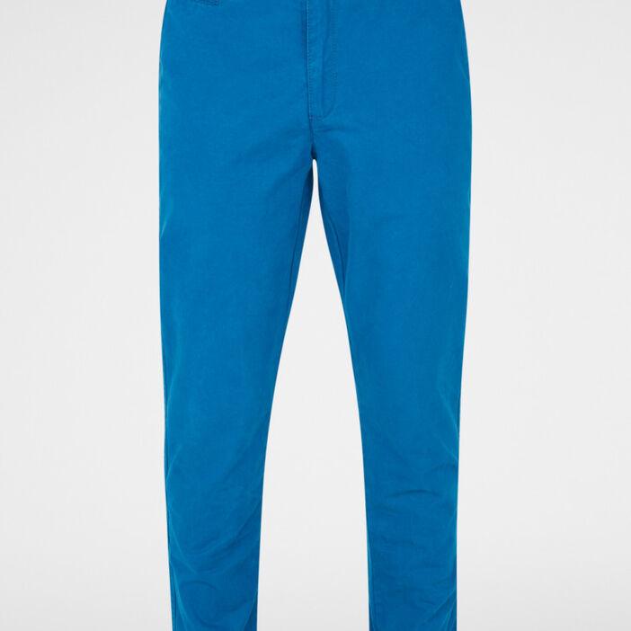 Pantalon droit uni homme bleu pã‰trole