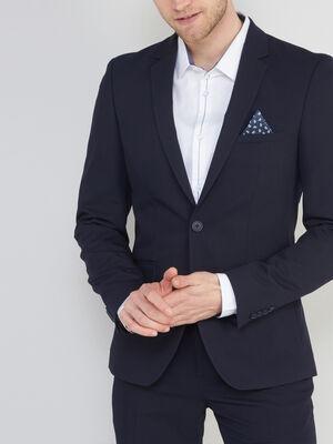 Veste slim avec 2 boutons bleu marine homme