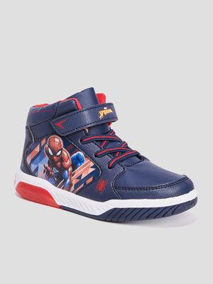 Baskets montantes Spider Man bleu marine garcon