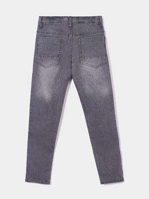 Jeans slim effet stretch gris garcon
