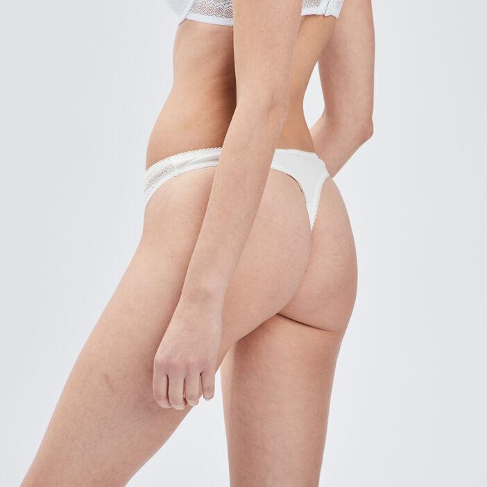 Culotte string femme ecru