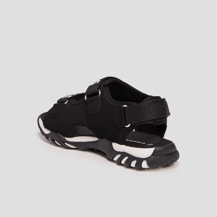 Sandales crantées Creeks garçon noir