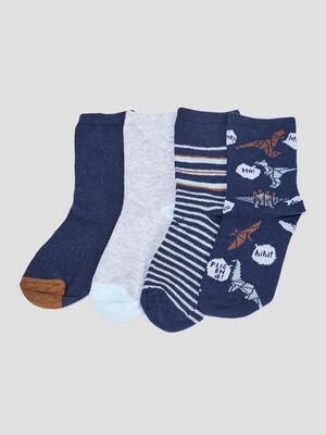 Lot 4 paires chaussettes bleu garcon
