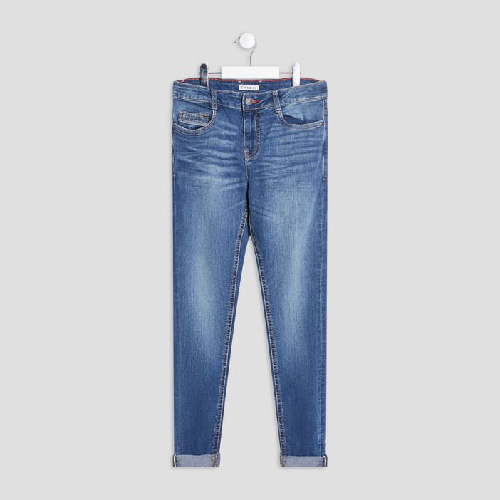 Jeans slim Creeks garçon denim double stone