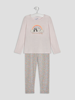 Ensemble pyjama 2 pieces rose clair fille