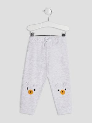 Pantalon jogging ecru bebeg