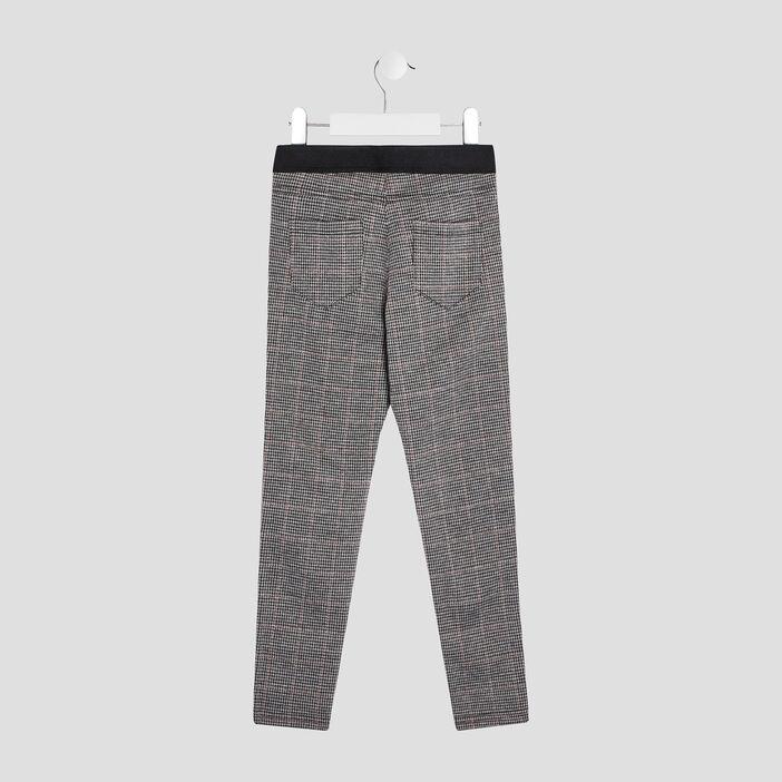 Pantalon droit fille gris foncé