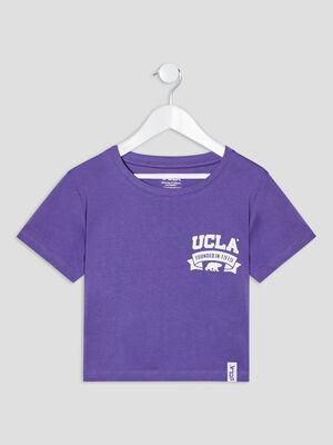 T shirt manches courtes UCLA violet clair fille