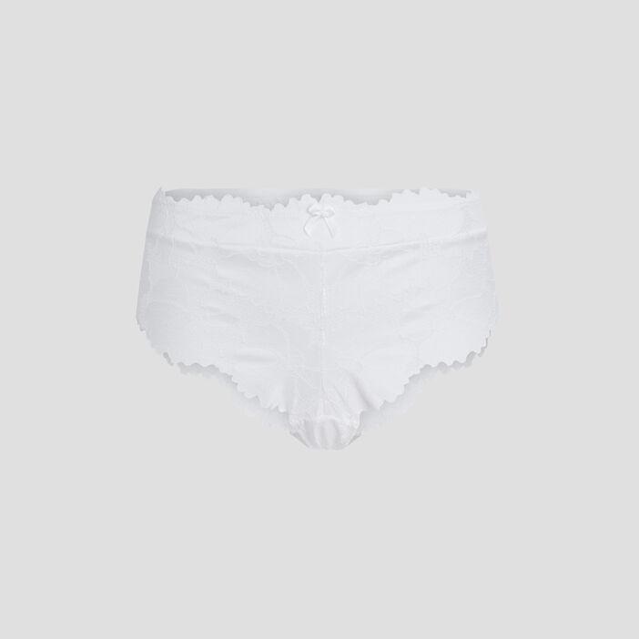 Culotte shorty à dentelle femme blanc