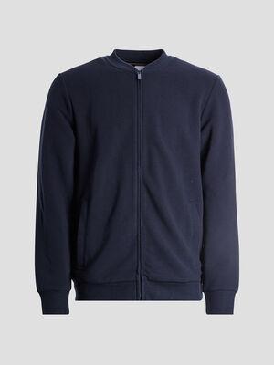 Gilet zippe bleu marine homme
