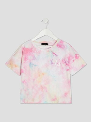 T shirt Liberto rose fille