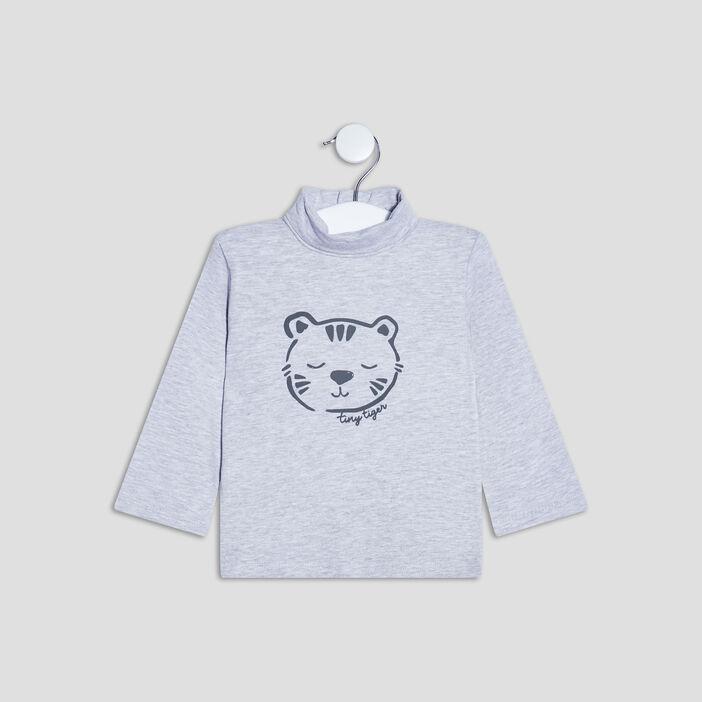 T-shirt Pat et Ripaton bébé garçon gris