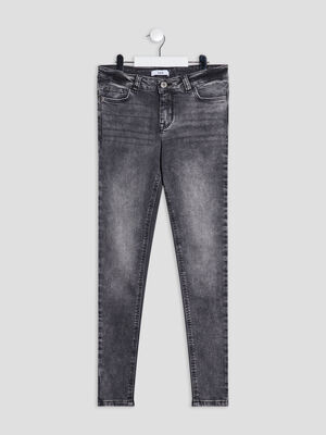 Jeans skinny denim gris fille