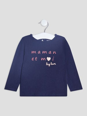 T shirt manches longues bleu marine bebef